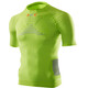 X-Bionic M's Effektor Power Running Shirt SS GreenLime/Pearl Grey